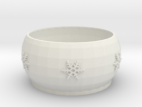 Snow Flake bowl  in White Natural Versatile Plastic