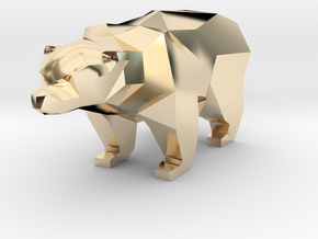 A Bear  - 5cm in 14K Yellow Gold
