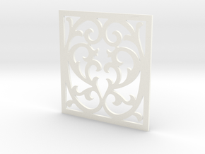 Victorian Panel-15 in White Processed Versatile Plastic