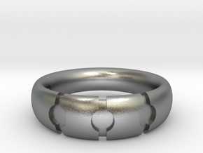 Enigmatic ring_Size 6 in Natural Silver