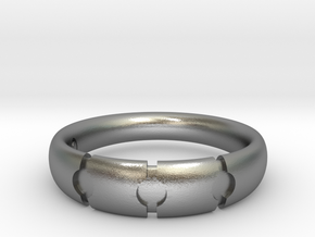 Enigmatic ring_Size 11 in Raw Silver