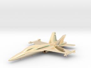 McDonnell Douglas F/A-18 Hornet F-18 Gold & precio in 14k Gold Plated Brass
