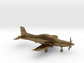 Pilatus PC-21 Turboprop gold & precious materials in Polished Bronze