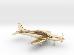 Pilatus PC-21 Turboprop gold & precious materials in 14k Gold Plated Brass