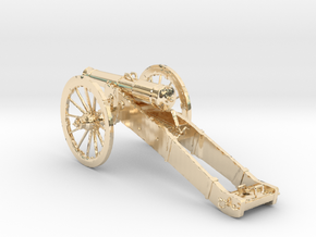 12 Pound Middle cannon in 14k Gold Plated Brass
