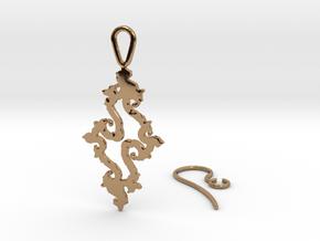 Julia Set Earring in Polished Brass