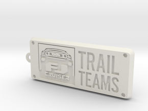 FJ Cruiser Trail Teams Keychain in White Strong & Flexible