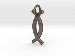 Ujamaa small charm in Polished Bronzed Silver Steel