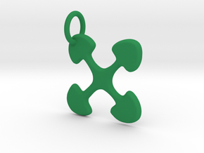 Ujima small charm in Green Processed Versatile Plastic