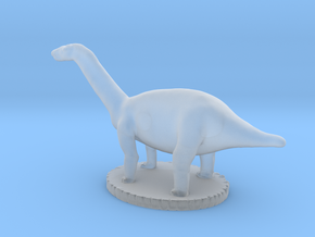 Miniature Apatosaurus Dark Green Full Color in Smooth Fine Detail Plastic