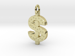 Dollar Charm in 18k Gold Plated Brass