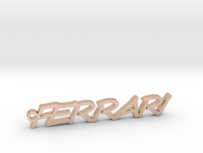 Pendant Ferrari Gold & precious metals in 14k Rose Gold Plated Brass