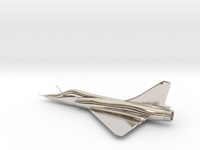 Dassault Mirage 2000 gold 100mm in Rhodium Plated Brass