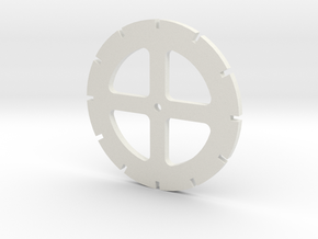 3 Inch disc template in White Natural Versatile Plastic