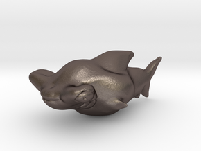 Sharky in Polished Bronzed Silver Steel