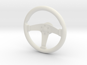 1/6 Scale steering wheel in White Natural Versatile Plastic
