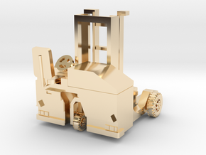 H0 scale: Forklift, Vorklift, Kooiaap, Gabelstaple in 14K Yellow Gold