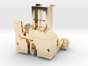 H0 scale: Forklift, Vorklift, Kooiaap, Gabelstaple in 14K Yellow Gold