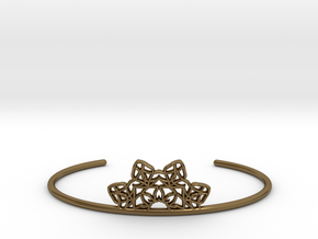 Half Mandala Cuff - small in Polished Bronze