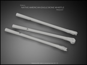 Eagle Bone Whistle 5 inch in White Strong & Flexible
