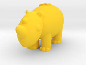 Rhinoceros (Nikoss'Animals) in Yellow Processed Versatile Plastic