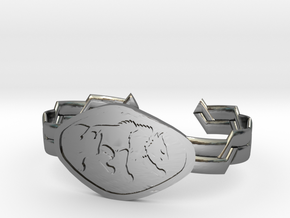 "2.5"" Wolf Bracelet in Fine Detail Polished Silver"