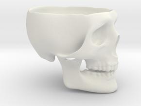 Skull Ashtray in White Natural Versatile Plastic