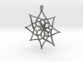 LotusPendant in Natural Silver