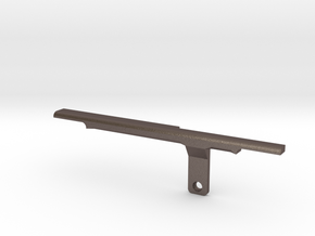 ThumbRail (Bridge)-fits Fender Amer Dlx Jazz 5 in Polished Bronzed Silver Steel