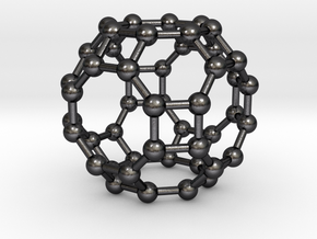 0288 Great Rhombicuboctahedron V&E (a=1cm) #003 in Polished and Bronzed Black Steel