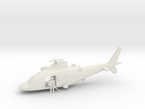 10mm (1/144) Agusta-Westland A109LUH (doors Open,  in White Natural Versatile Plastic