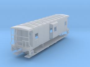 Sou Ry. bay window caboose - Gantt - HO scale in Frosted Ultra Detail