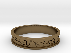 Curls Ring in Polished Bronze