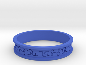 Curls Ring in Blue Processed Versatile Plastic