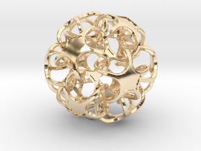 ICOSA N DODECA 75mm in 14K Yellow Gold