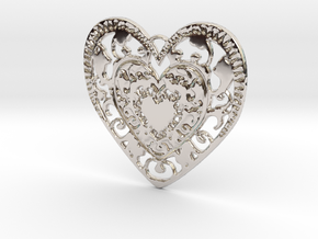 Flourish Whole Heart Pendant in Platinum