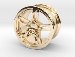 Wheel Lamborghini in 14k Gold Plated Brass