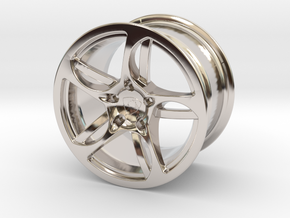 Wheel Lamborghini in Rhodium Plated Brass