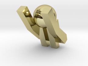Board Game 'Tsumi Yoga' Block#11 in 18k Gold Plated Brass