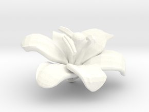 Lily Flower Rock 1 - S in White Processed Versatile Plastic