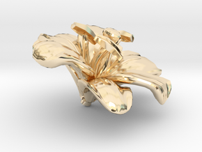 Lily Flower Rock 1 - M in 14K Yellow Gold