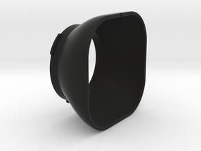 Lens Hood Bay I for Rolleiflex in Black Strong & Flexible