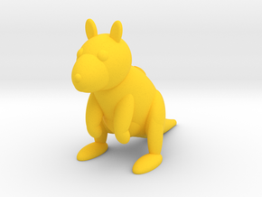 Kangaroo (Nikoss'Animals) in Yellow Processed Versatile Plastic