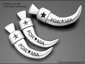 Grizzly Claw Pow Mia Earrings in White Processed Versatile Plastic