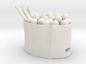 Flash Case Sushi Ikura  in White Natural Versatile Plastic