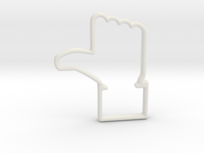 Facebook Cookie Cutter  in White Natural Versatile Plastic