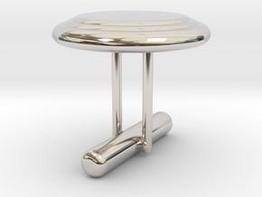 Cufflink Style 7 in Rhodium Plated Brass