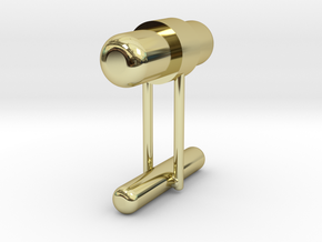 Cufflink Style 8 in 18k Gold Plated Brass