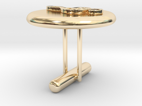 Treble Cle Cufflink 2 in 14k Gold Plated Brass