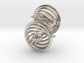 Concentric Earrings in Rhodium Plated Brass